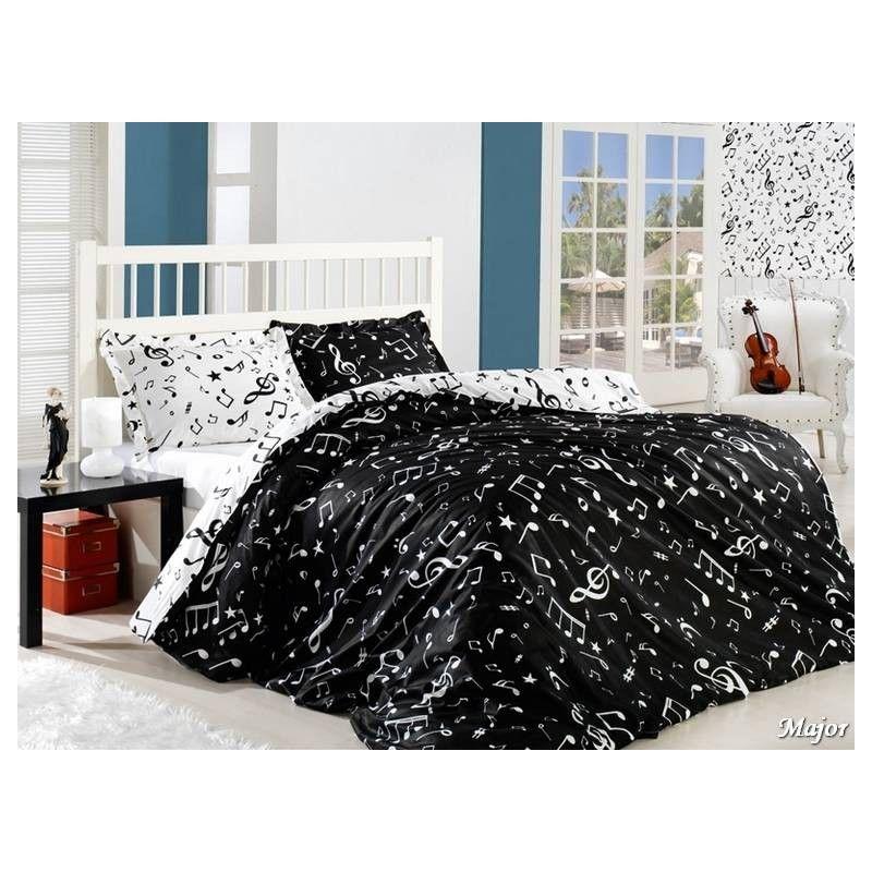 чёрно-белое постельное бельё