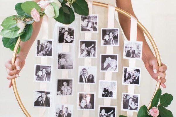 свадебный цветочный обруч - фоторамка