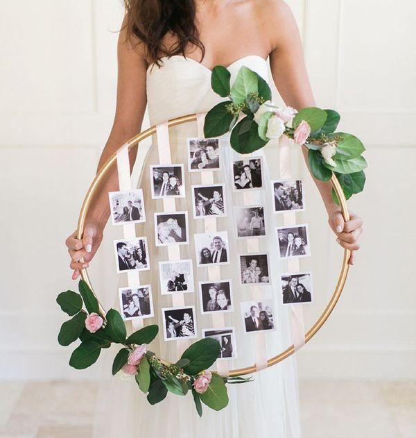 свадебный цветочный обруч - фоторамка своими руками
