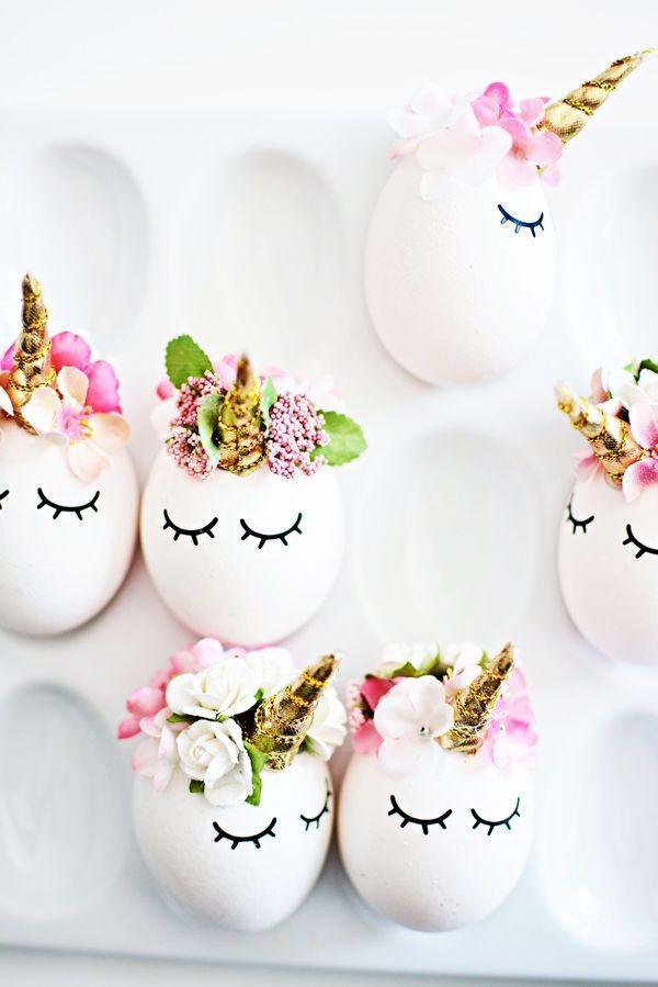 как сделать пасхальные яйца в виде единорогов