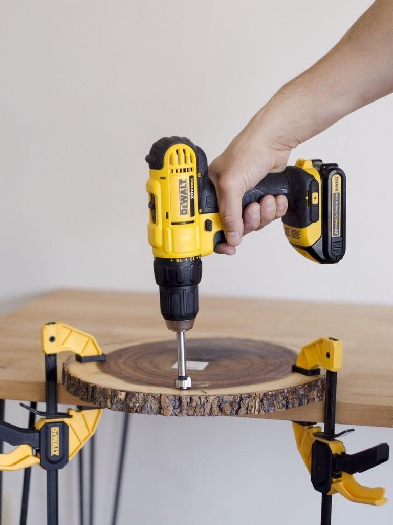 шаг 1. столик своими руками из спила дерева
