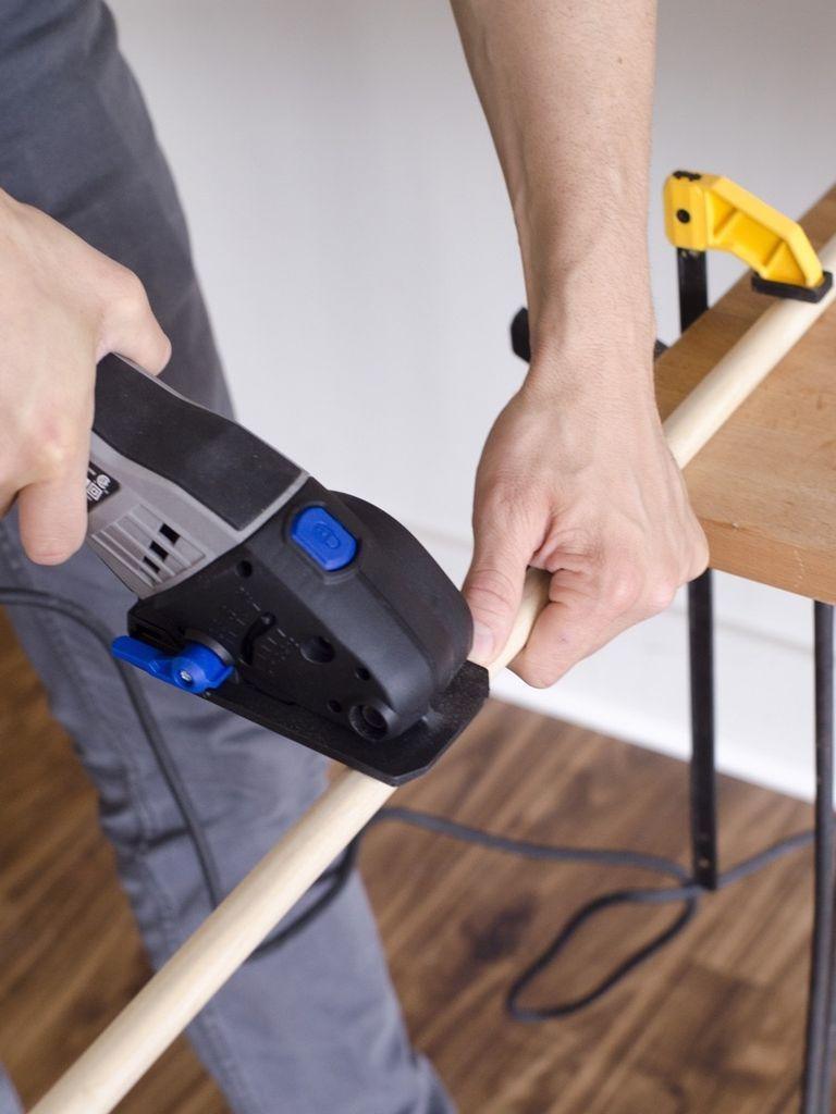 шаг 2. столик своими руками из среза дерева