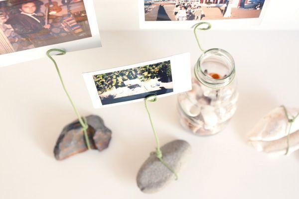 держатели для фотографий своими руками из камней и проволоки