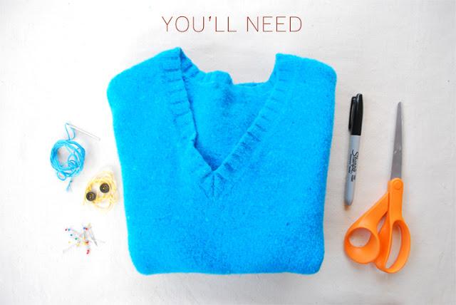 что нужно для рукавичек из свитера