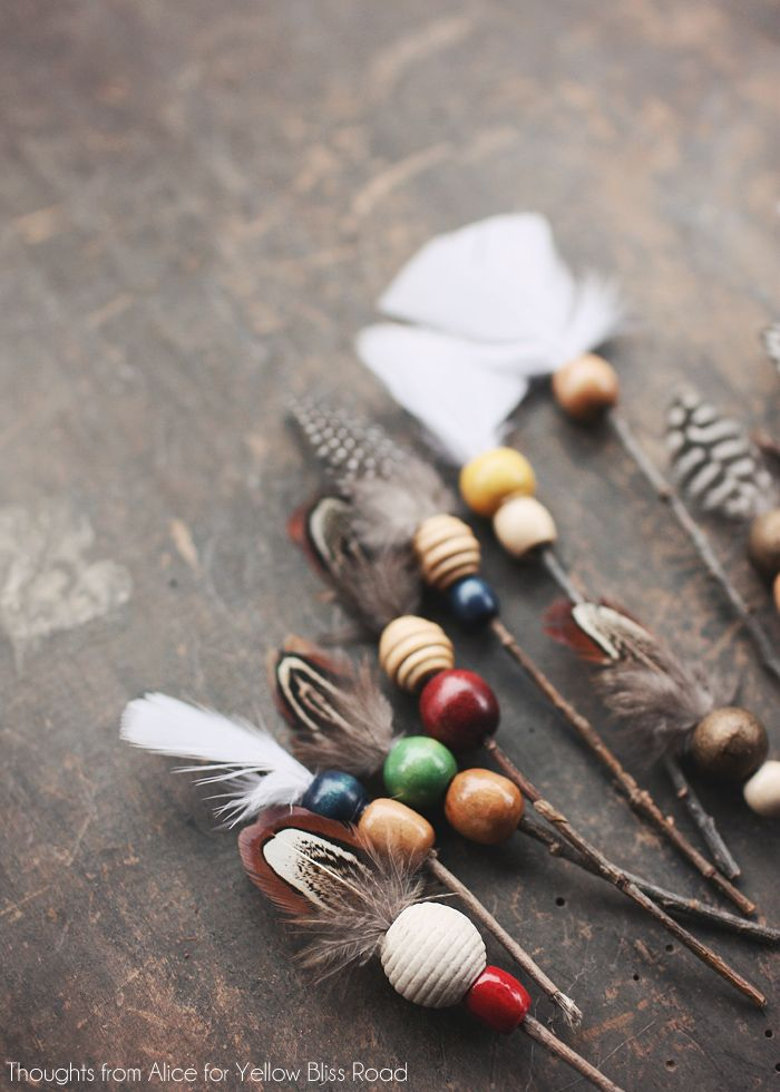 бусины - делаем декоративные стрелы своими руками