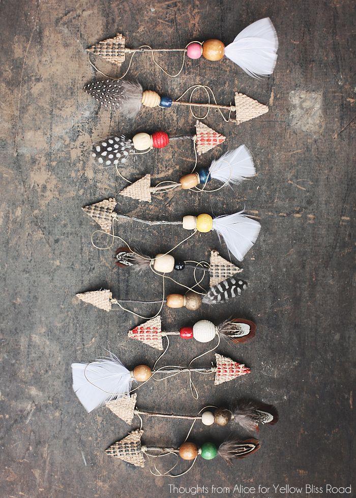 декоративные стрелы своими руками для новогодней ёлки