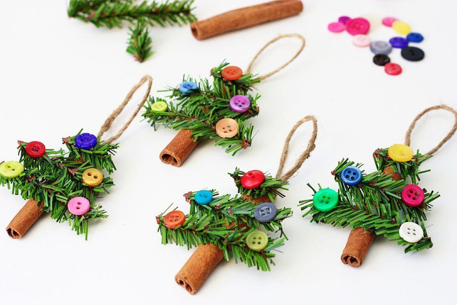 новогодние ёлочки из палочек корицы своими руками