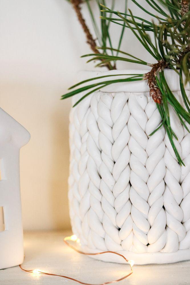 декор банки косичками из полимерной глины