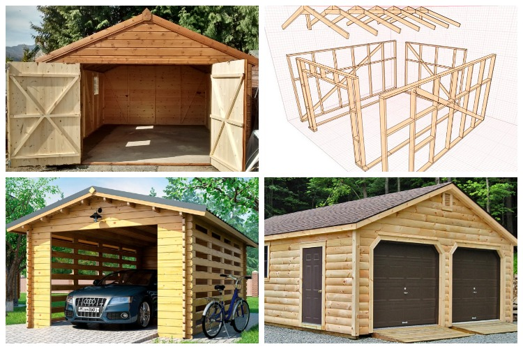деревянные гаражи